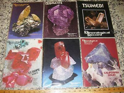 MINERALOGICAL RECORD Magazine Vol 8 All 6 Issues Complete 1977 Minerals Crystals