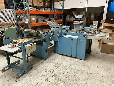 MBO B20 pile feed folder with right angle