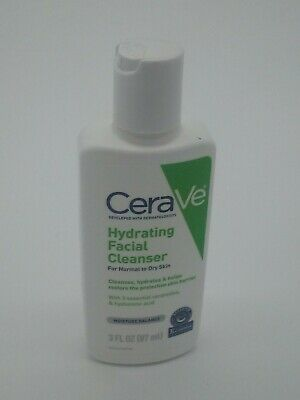cerave hydrating facial cleanser for normal to dry skin 3 fl oz (87 ml)