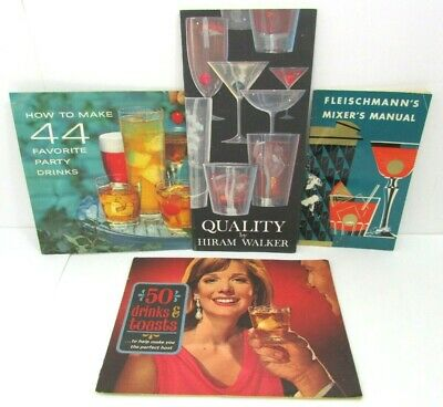 Lot Of 4 Vintage Bartending Mixer Manuals Cocktail Recipe Booklets Drinks Toasts