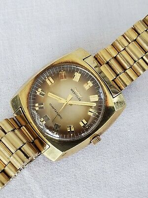 Vintage Westclox Quartzmatic Gold Tone Men's Watch Parts Restoration