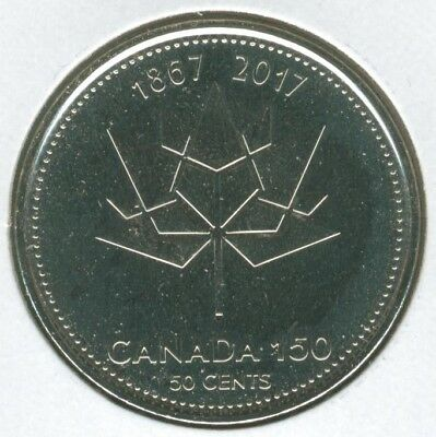 CANADA 2017 50 cents 150th Anniversary of CANADA 1867-2017 from mint roll