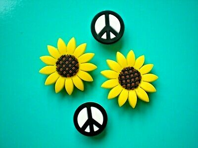 Shoe Charm Accessories Wristband Plug Pin Button Sun Flower Compatible w/Crocs