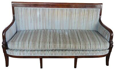 Antique French Empire Mahogany Settee Sofa Figural Dolphin Parlor Federal 71""