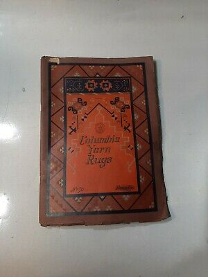 1925 COLUMBIA YARN RUGS BOOK Color Patterns Illustrated Catalog RARE