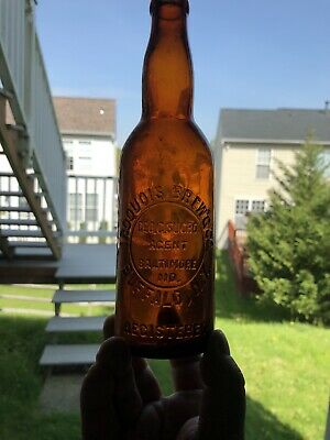 Amber Crown Top Iroquois Brewing Co Buffalo Ny Baltimore Md Maryland Beer Bottle