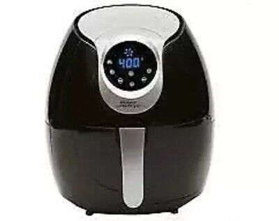 Power Air Fryer XL AF-530 5.3 QT Deluxe Rapid Turbo Air Technology Black Gray