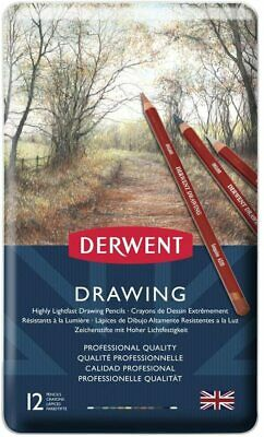 Derwent Coloured Drawing Pencils, Set of 12, Professional Quality, 700671 - Mult