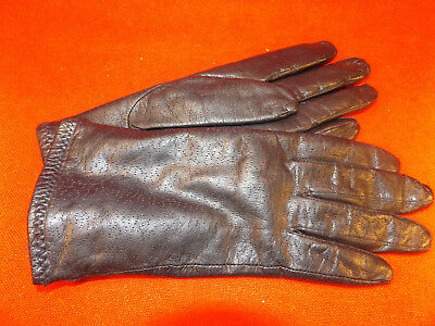 Ladies BLACK LEATHER INSULATED GLOVES Thinsulate  7 1/2 Excellent Pre-Owned Cond