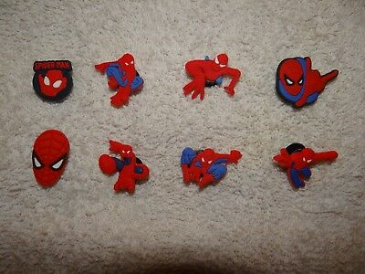 Spiderman Shoe Charms Plug Button Clogs Wristband Bracelet Accessories NEW