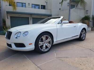2013 Bentley Continental GTC CONTINENTAL GTC 2013 BENTLEY GTC WHITE  BEAUTIFUL EXAMPLE INSIDE & OUT PRICE REDUCED $5k!