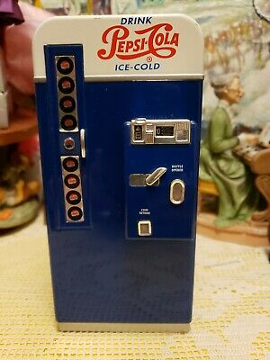 Pepsi Cola Custom Replica Collection Die Cast Metal Vending Machine Bank (Blue)