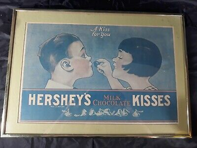 Hershey S Kiss Framed A Kiss For You Print Ad Art 20 By 14 3 8 19 59 Picclick Uk