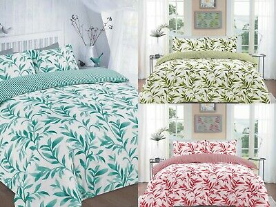 CHILL /& SLEEP SLOGAN MULTI POLY COTTON DUVET QUILT COVER SET WITH PILLOWCASE