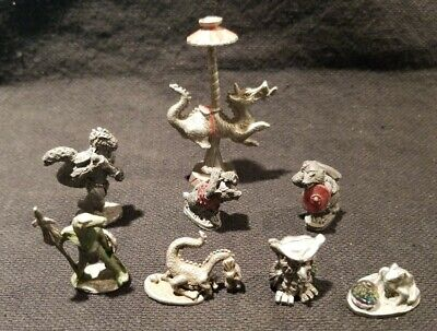 Vintage Lot of 8 Mythical Fantasy Pewter Figurines GRENADIER SPOONTIQUES