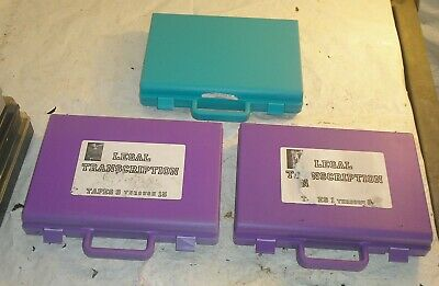 Lot of 3 Cassette Tape Briefcase Holders w Carry Handles