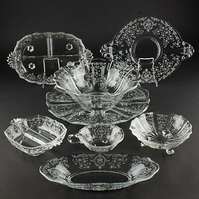 Group of 8 Serving Pieces, Serve Everything! | Fostoria Navarre, Clear
