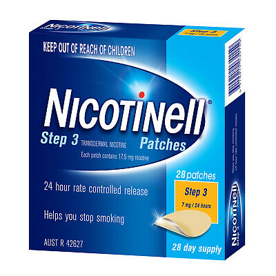 Nicotinell Step 3 7mg Patches 28 Days Supply