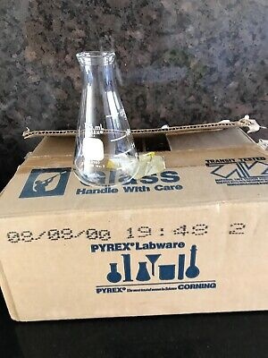 12 Bottle Pack  Unused Pyrex USA 4980 Flask, Lab Glass, 125ml