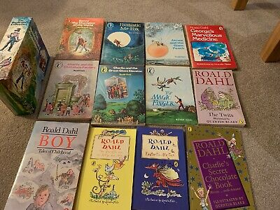 RARE Roald Dahl Collection 12 Books, 6 Box Set From 1979 Good Condition