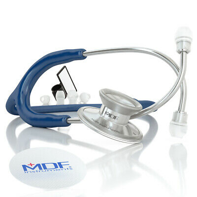 MDF Instruments Acoustica Deluxe Lightweight Dual Head Stethoscope - Navy BLue