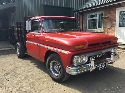 GMC truck 1964 flat bed stake bed