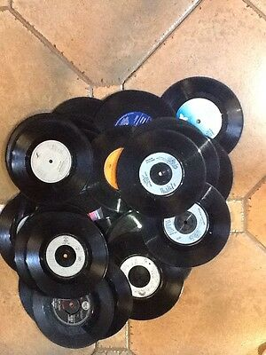 """15 X   7"""" vinyl records for up-cycling Crafts Lockdown Activities Free UK Post"""