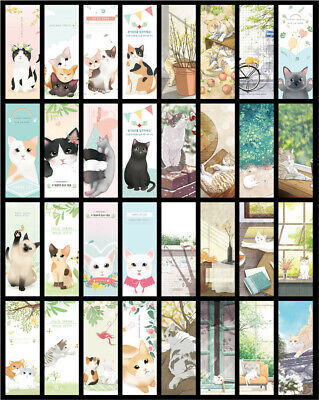 3x Cat Bookmarks Page Marker Gift Kawaii Cute Kitten Book Mark Cat Lover Reading