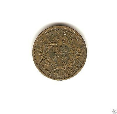 1926 AH. 1345 TUNISIA Coin 50 CENTIMES *