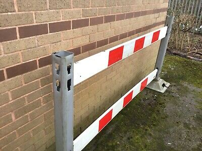 Safety barriers. 10 posts and 10 feet. 20 rails.