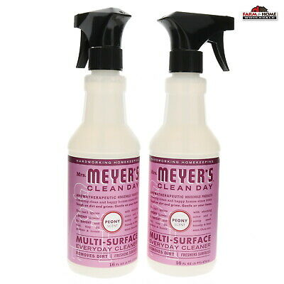 (2) Mrs. Meyer's Multi-Surface Cleaner 16oz Peony ~ New