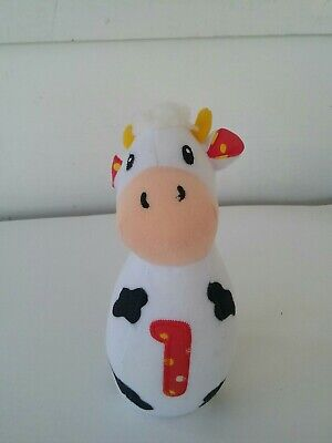 Baby Rattle Cow Plush Hand Held Soft Toy FREE SHIPPING
