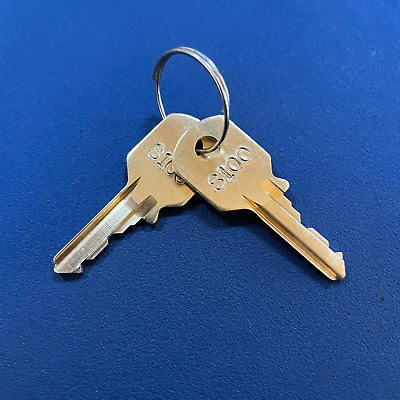 2 Steelcase Chicago File Cabinet keys S100-S149 With Key Tag