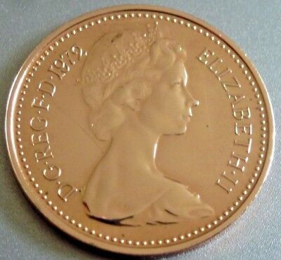 Mega Rare 1972 1/2p Proof Coin 1/2p Not released. Low Mintage.(CG12)
