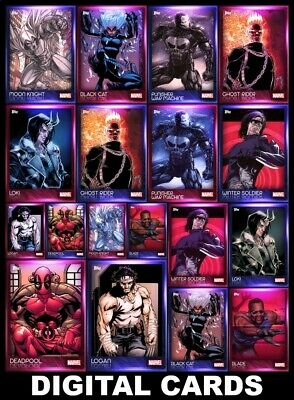 Topps Marvel Collect ANTI-HEROES 2020 [18 CARD PINK/BLUE SETS] Deadpool+++
