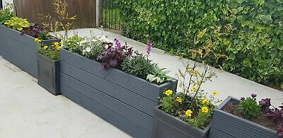 Decking Wooden Garden Planters Outdoor Crate/Trough/Box 85Lx28Wx50H ANY SIZE