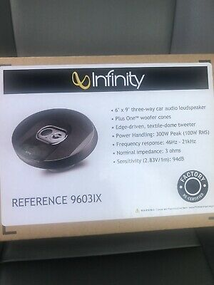 """Infinity Reference REF-9630CX 6"""" x 9"""" Two-way component system New Pair REF9630C"""