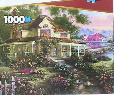 Country Home & Garden 1,000 PC JIGSAW PUZZLE With Keepsake Box - Brand New