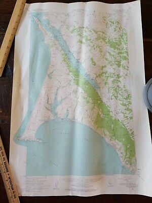 """Vintage Point Reyes CA Geological Survey Map 1954~ 26"""" x 18"""" San Andreas"""