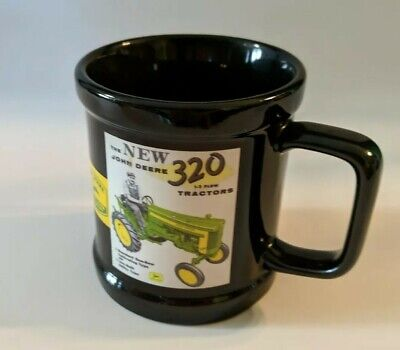 JOHN DEERE Coffee Mug Tractor Advertisement MODEL D R 320 - 2006 Encore