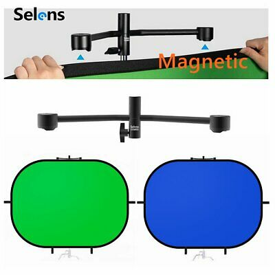 Blue/Green 2 in 1 Collapsible Reflector Studio Backdrop Screen + Magnetic Holder