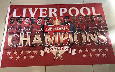 LIVERPOOL FC League champions 2019/2020 Extra  Large FLAG 5ft X 3ft