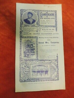Grand Theatre Leeds The Second Mrs Tanqueray programme 1893 D