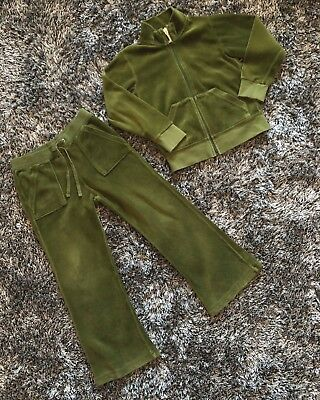 Immaculate - Juicy Couture Velour Tracksuit Age 4 - Olive