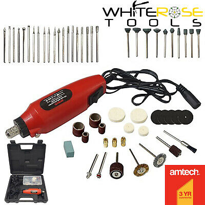 Amtech V2560 60pc Mini Drill & Grinder Kit Rotary Sander Buffer Cutter Engraver