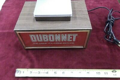 Vintage Dubonnet wine lighted motion Liquor Sign Display Schenley Rare Backbar
