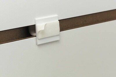 """Slatwall Sign Holder  Adapter-adhesive Retail Sign White 1"""" L- 10 Pieces"""