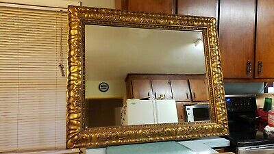 Authentic La Barge Mid Century Mirror With Gold Gilt Frame (Very Large) Italy