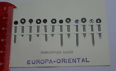 Card Of Vintage Replacement Europa-Oriental Clock Hands (NOS) ,