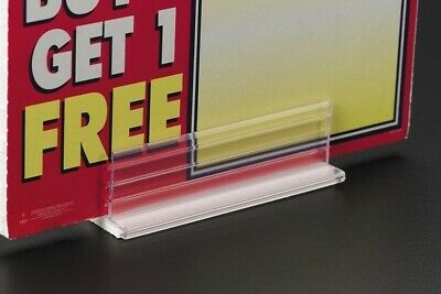 HD RETAIL STORE SALE PRICE SIGN TAG HOLDERS STANDS- ADHESIVE Base- lot of 10